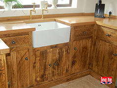Custom Handmade Rustic Plank Pine Fitted Kitchens by Incite Interiors Derby, British bespoke Solid wooden Kitchens Made to Measure, Derbyshire