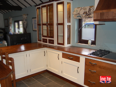 Handmade Bespoke Walnut and Painted Kitchen By incite Interiors Derby, custom made wooden kitchens, made to measure painted kitchens, Derbyshire