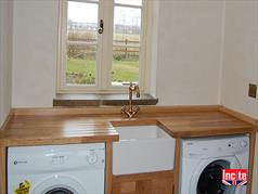 Fitted Oak Cabinets For Utility Room