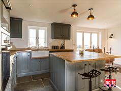 Hand Painted  Manor House Gray Kitchen