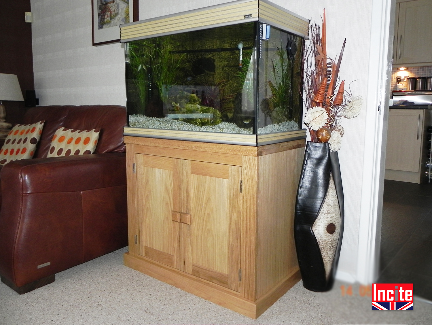 Bon Oak 2 Door Fish Tank Cabinet