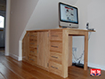 Custom Made Under Stairs Sideboard Desk