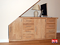 Oak Under Stairs Sideboard Desk