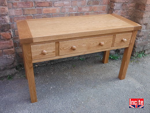 Oak Wood Tailor Made Console Table