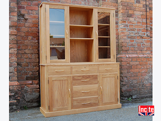 Made to Measure Oak Dresser with Glazed Top