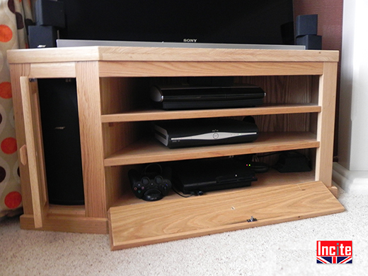 Solid Oak Corner TV Units