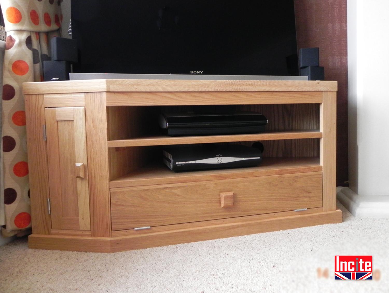 Handmade To Order Corner TV Cabinet