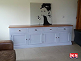Handmade 4 Door Painted And Oak Sideboard