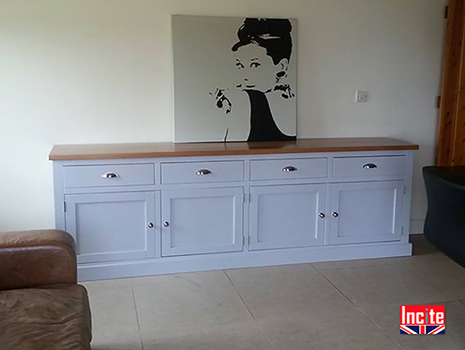 Bespoke Painted and Oak Sideboard