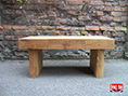 Oak Block Coffee Table