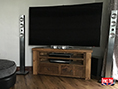 Rustic Pine Wide TV Unit