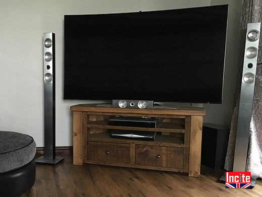 Chunky Rustic Pine TV Cabinet