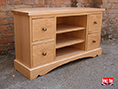 Oak TV Cabinet With Drawer Storage