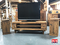 Solid Pinewood Retro Media Cabinet