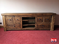 Solid Wooden Plank Television Cabinet