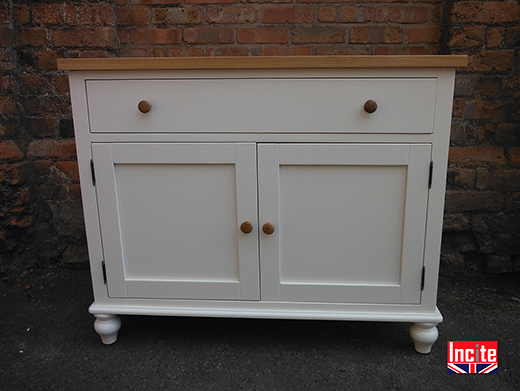 British Made Painted and Oak Sideboard