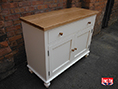 Hand British Made Oak Painted Sideboard