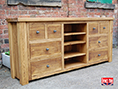 Chunky Pine Wide Television Cabinet
