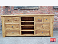 Plank Pine Wide Television Cabinet