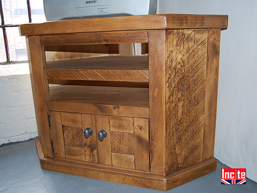 Handcrafted Solid Rustic Plank Pine TV Cabinet