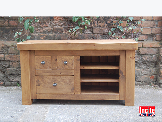 Solid Plank Pine Television Cabinet