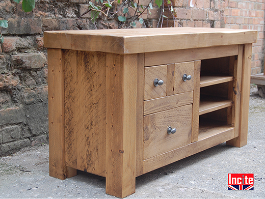 Bespoke Solid Plank Pine TV Unit