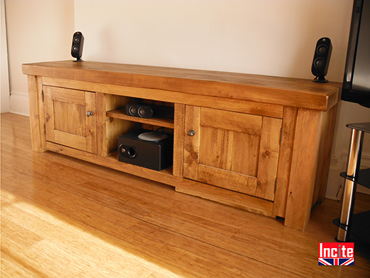 Rustic Pine Large TV Media Unit