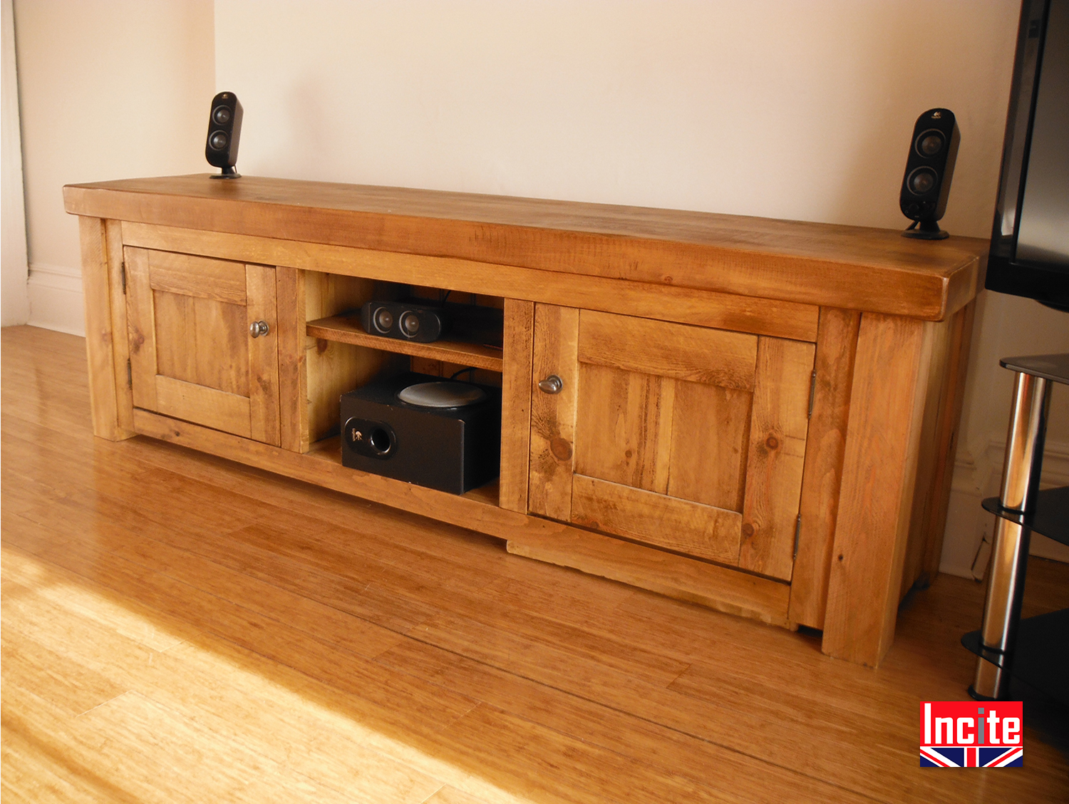 Plank Pine Rustic Handmade Television Cabinets By Incite