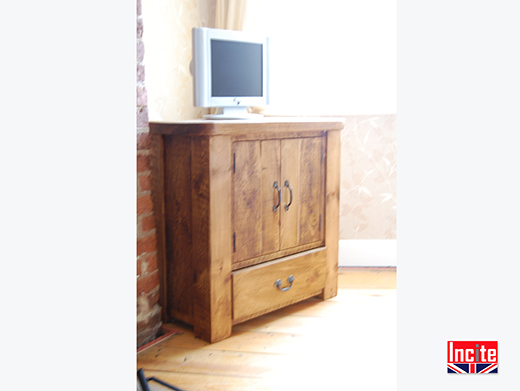 Rustic Pine Television Cupboard