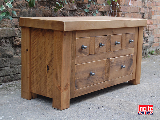 Rustic Pine TV and Media Cabinet