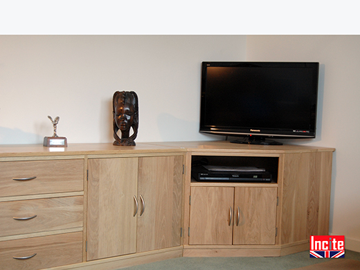 British Made Oak Lounge Cabinet