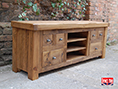 Rustic Plank Pine Television Cabinet