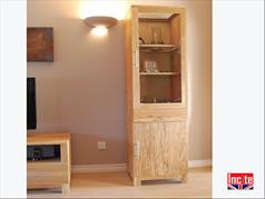 Tall Handmade Solid Oak Display Cupboard By Incite Interiors Derbyshire