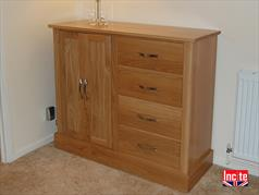Handmade Oak Combination Cabinet Derby