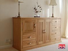Handmade Bespoke Oak 6 Drawer 2 Door Sideboard By Incite Interiors Draycott Derbyshire