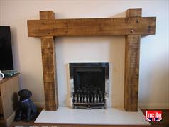 Solid Chunky Rustic Fire Surround