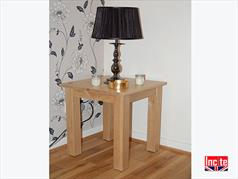 British Handmade Oak Lamp Table