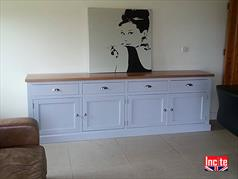 Bespoke Painted Sideboard Hand Made To Measure By Derbyshire Based Incite Interiors, Custom Made Painted And Oak Dining Room Furniture