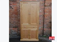 Handmade Bespoke Oak Alcove Cupboard