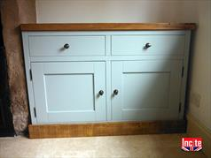 Beautiful Painted with Rustic Top Sideboard