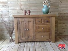 Rustic Chunky Plank Combination Sideboard