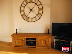 Handmade Rustic chunky Plank Pine Large TV Media Unit By Incite Interiors Derbyshire
