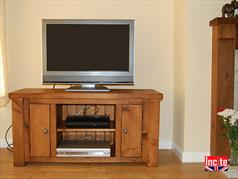 Handmade Chunky Plank Pine Television Cabinet