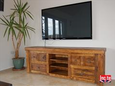 Rustic Chunky Plank Pine media Cabinet