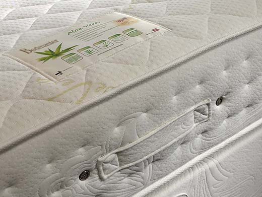 Yorkshire Made Aloe Vera Memory Pocket Sprung Mattress