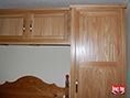Single Oak Robe with Top Boxes