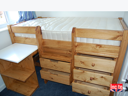 Child's Sleep Station Pine Bed
