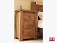 Chunky Oak 3 Drawer Bedside