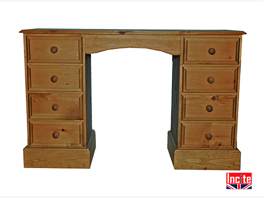 Wooden Double Pedestal Dressing Table