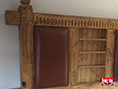 Hand Carved Rustic Sleeper Drawer Bed